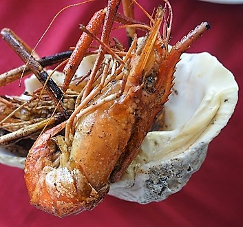 Africa, Mauritius, Grilled Jambo Shrimps