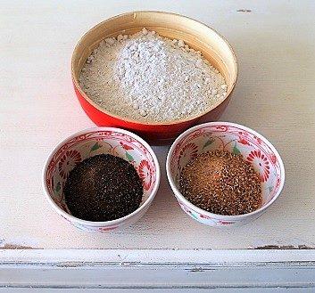 Rye Flour, Roasted Barley Malts