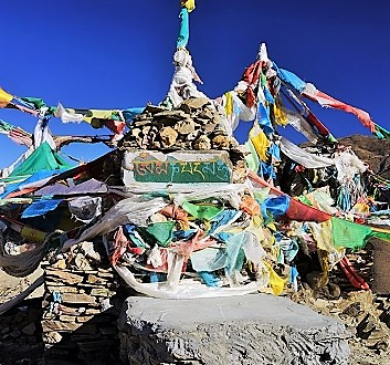 China, Tibet, Yamdrok Lake, Tibetan Prayer Flags