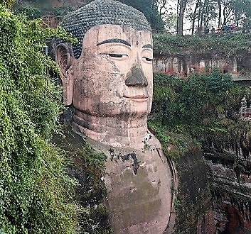 China, Chengdu, Leshan Giant Buddha