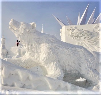 China, Harbin, Harbin International Ice and Snow Sculpture Festival