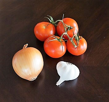 Tomatoes, Onion, Garlic