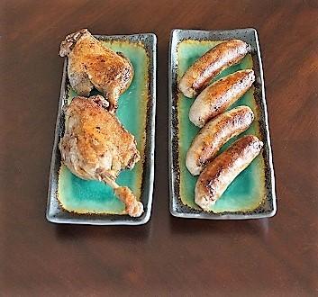 Sautéed Duck Legs Confit, Toulouse Sausage