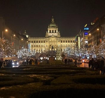 Czech Republic, Prague, Wenceslas Square and National Museum