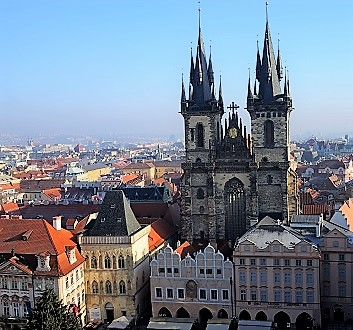 Czech Republic, Prague, Church of Our Lady Before Tyn