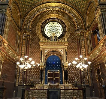 Czech Republic, Prague, Spanish Synagogue, Moorish Architecture