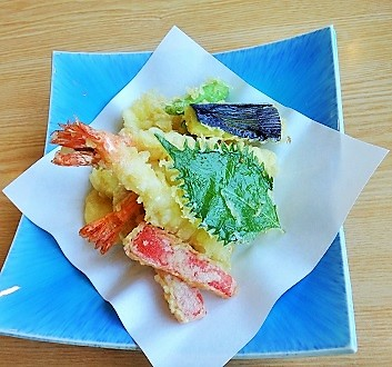 Japan, Kyushu, Vegetables and Shrimp Tempura