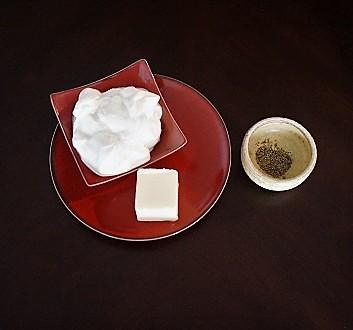 Crème Fraîche, Butter, Black Pepper
