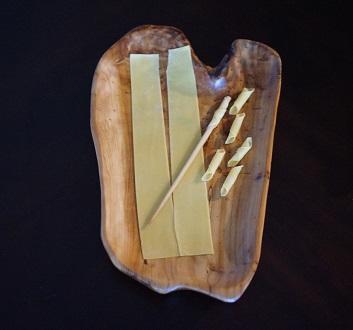 Making Fuži Pasta