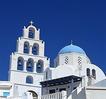 Greece, Santorini, Pyrgos Village