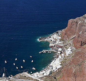 Greece, Santorini, Oia, Ammoudi Bay