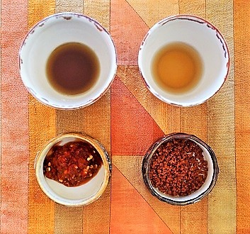 Oil, Soya, Chili Paste, Red Salt