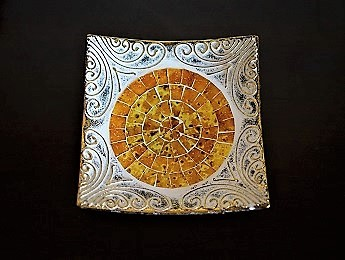Greece, Decorative Yellow Plate