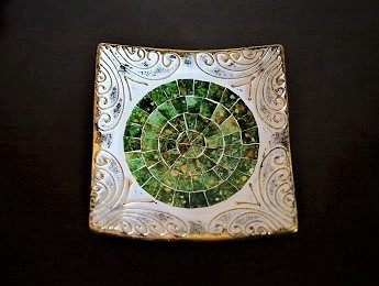 Greece, Decorative Green Plate