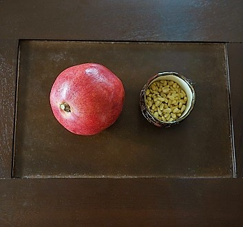 Pomegranate, Pine Nuts