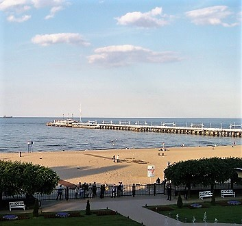 Poland, Sopot, Sofitel Grand Sopot Hotel, Beach View