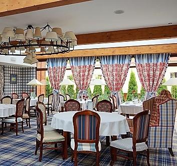 Poland, Masuria, Giżycko, St. Bruno Hotel, Dinning Room