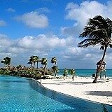 Mexico, Riviera Maya, Swimming Pool and Beach