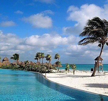 墨西哥, 里维埃拉玛雅, 游泳池和沙滩