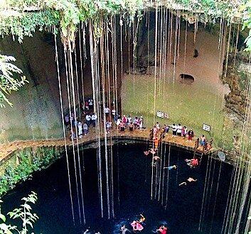 Mexico, Riviera Maya, Sagrado Cenote Azul