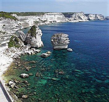 France, Corsica, Bonifacio, Limestone Cliffs