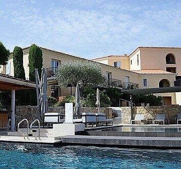 France, Corsica, La Villa Hotel in Calvi