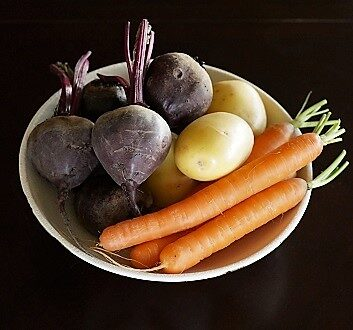 Beets, Potatoes, Carrots