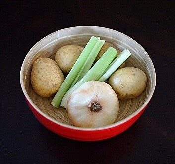 Potatoes, Celery, Onion
