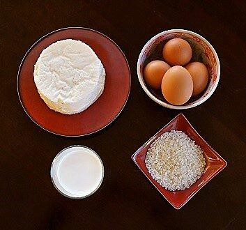 White Cheese, Cream, Eggs, Rice