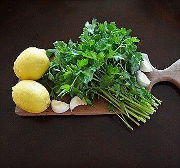 Lemon, Parsley, Garlic
