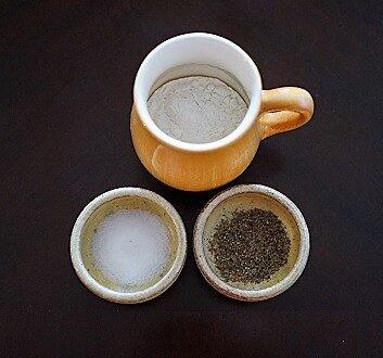 Flour, Salt, Black Pepper