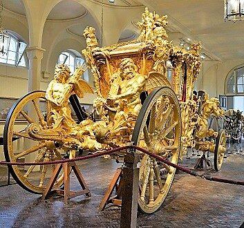 England, London, Royal Mews, Gold State Coach
