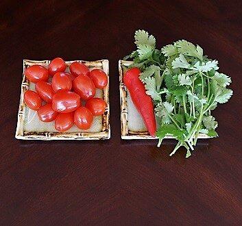 Tomatoes, Chili Pepper, Cilantro