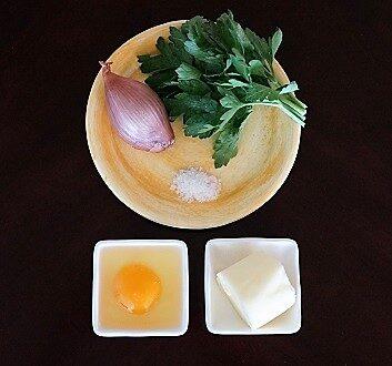 Shallot, Parsley, Sea Salt, Egg, Butter