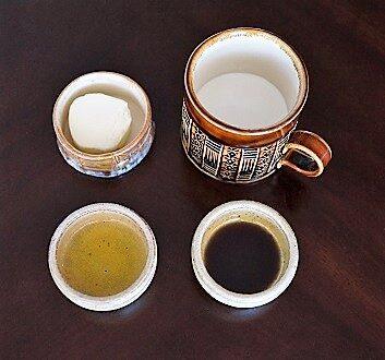 Butter, Cream, Olive Oil, Pumpkin Seed Oil