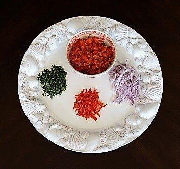 Cilantro, Tomatoes, Red Onion, Chili Pepper