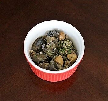 Escargots in Ceramic Soufflé Dish