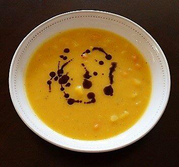 Pumpkin Soup with Pumpkin Seed Oil
