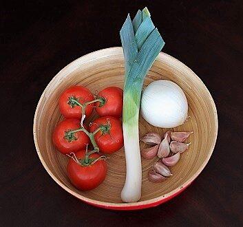 Tomatoes, Leek, Onion, Garlic