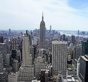USA, New York, View from Top of the Rock