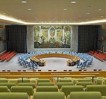 USA, New York, United Nations, Security Council Chamber