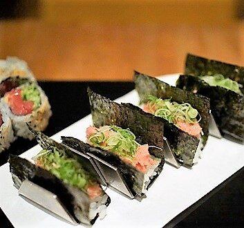 USA, New York, Kappo Masa Restaurant, Negi-Toro Roll