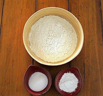 Flour, Sugar, Baking Powder