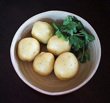 Yellow Potatoes, Fresh Cilantro