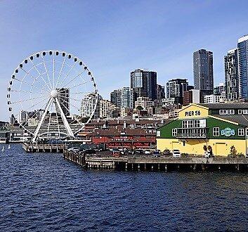 USA, Pacific Northwest, Seattle Waterfront
